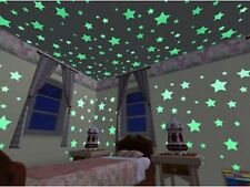 24pcs New In The Dark Plastic Stars Stickers Baby Kids Ceiling Wall Glow Room