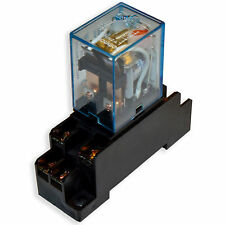 (2 PCs) 10A Omron LY2N-J Cube Relays 110~120V/AC Coil with PTF08A Socket Base