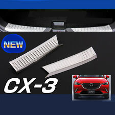 SUS304 Stainless Steel Rear Inner Scuff Plate Trim Cover For Mazda CX-3 2015-17