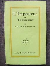 Jouhandeau L'Imposteur Cocteau Les Cahiers Verts 3 Grasset 1950 EO Ex sur Alfa