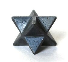 REIKI ENERGY CHARGED HEMATITE MERKABA STAR CRYSTAL STONE OF OPTIMISM & COURAGE