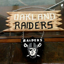 Man Cave Sign~ Wood Hanging Sign - OAKLAND RAIDERS~ Hand-Made
