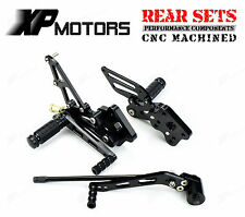 CNC Black Racing Rear Sets Footrest For Suzuki GSX-R750 K6 K7 K8 K9 L0 2006-2010