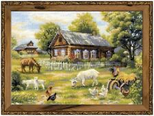 Afternoon in the Country - Riolis Counted Cross Stitch Kit New