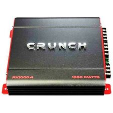 Crunch PX-1000.4 4 Channel 1000 Watt Amp Car Stereo Amplifier + Wiring Kit BOOST