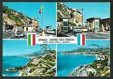 Grimaldi ( Imperia ) : confine italo/francese -  cartolina viaggiata nel 1969