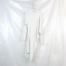 MAISON MARTIN MARGIELA 6 MM6 off white high neck twisted asymmetrical dress L