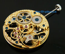 Parnis Wristwatch Gold Full Skeleton Hand Winding Mechanical Movement P73