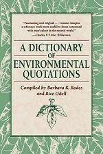 A Dictionary of Environmental Quotations-ExLibrary
