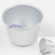 10x Gelatina Pastel Pudin Molde Aluminio Pastelería Taza Bandeja De Horno Fuente