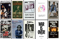 JOHN LENNON / BEATLES - SET OF 10 MIXED PROMO POSTER POSTCARDS # 1
