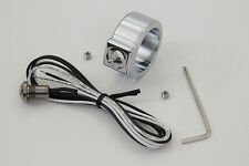 "CHROME SINGLE 1""HANDLEBAR PUSH BUTTON SWITCH KIT HARLEY BOBBER CHOPPER CAFERACER"