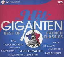DIE HIT GIGANTEN BEST OF FRENCH CLASSICS (Joe Dassin, Zaz, Céline Dion)3 CD NEU