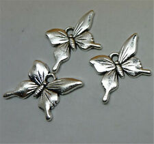 P1182 15pc Tibetan Silver butterfly Charm Beads Pendant accessories wholesale