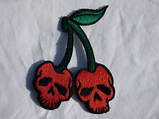 ECUSSON PATCH THERMOCOLLANT aufnaher toppa CERISE fruit rockabilly rock n roll
