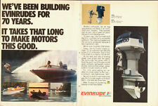 1978 EVINRUDE Outboard Boat Motors, Engines, Water skier, Print Ad  (061714)