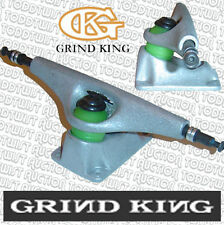 "GRIND KING - Old School Skateboard Trucks - 8"" Wide Slider Axle, Allen key ends"