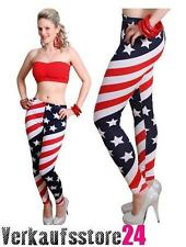 Leggings Amerika Flag Leggins USA Flagge Vintage Hose Damen Leggings Muster NEU