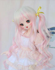 1 3 BJD 8-9 Dal Pullip SD DZ DOD LUTS Dollfie Doll wigs long pink white wig