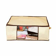 Under Bed Zipped Storage Bag for Clothes Shoes Blankets Curtains 60 x 45cm