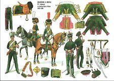 """Planches """"Rigo"""" Le plumet Planche U 33 Chasseurs cheval ex chevau legers Belge"""
