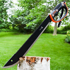 "22"" HUNTING SURVIVAL Sawback Military FULL TANG MACHETE Fixed Blade Knife SWORD"