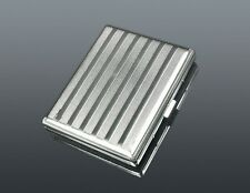 CIGARETTE CASE...... Stripes engraved design Smoker Smoking Tin Box gift present