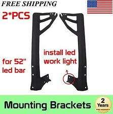 07-16 Jeep Wranger JK Windshield Mounting Brackets For 52'' Led Bar/Small Lights