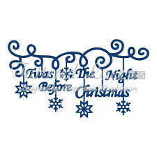 Tattered Lace festive meurt 2015-TWAS la nuit avant Noël-TTL / D924
