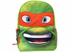 "Ninja Turtles Michelangelo 16"" Large School Backpack Book Bag For Kids Boys"