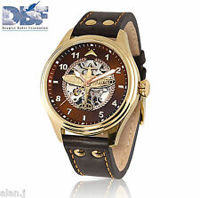 Spitfire Mechanical Watch for Men WWII RAF pilot's watch Douglas Bader engrave