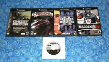 Nintendo GameCube Lot of 5 Games with Ghost Recon in Excellent Tested Condition