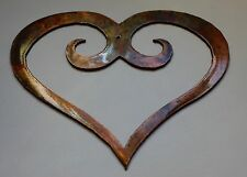 Ornamental Scrolled Heart XLg /Bronze Plated Metal Wall Decor 30""