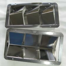 ONE THREE SLOT LOUVRED VENT, STAINLESS STEEL BOAT HULL VENT OR FOR CARS