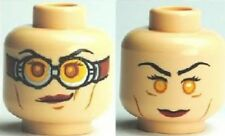 LEGO HARRY POTTER - Minifig, Head, Red Lipstick, Goggles (Madame Hooch)