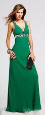 FAVIANA $338 Forest Green Formal Evening Prom Gown 14