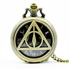 Harry Potter Deathly Hallows the hogwarts school  Pocket Watch for Mens&Womens
