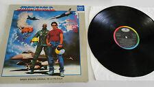 IRON EAGLE SOUNDTRACK QUEEN DIO HELIX LP VINYL VINILO 1986 VG/G+ SPANISH EDIT