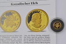 50 Cents Kanada 2004 Kanadischer Elch Gold 999