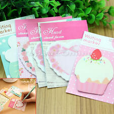 6x Heart Flower Cake Paper Memo Travel Diary Note Book Scratch Pad Home Office