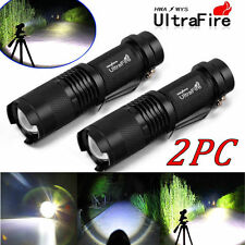 2x Ultrafire 5000Lumen CREE T6 LED Rechargeable Flashlight Torch Super Bright