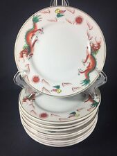 Vintage Chinese Handpainted Red Dragon Restaurant Quality Bread 1 Dessert Plate