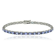 925 Silver 8.75 Ct Tanzanite Oval Tennis Bracelet