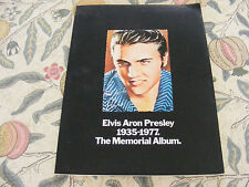 "Elvis Aron Presley "" The Memorial Album"" Book 1977"