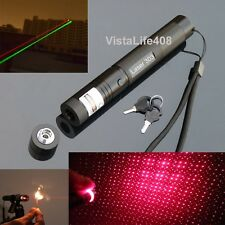 Military High Power Adjustable Focus Red Laser 303 Pointer 650nm-5mW + Star Cap