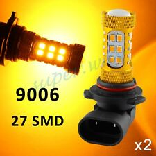 2x 9006/HB4 Yellow/Amber Fog Driving Light 27SMD LED Bulbs Projector Accessories