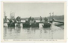 Engineers Constructing Pontoon Bridge FORT BELVOIR Springfield VA Vintage WWII