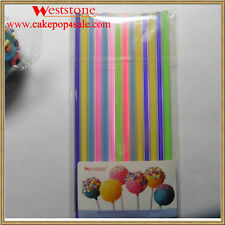 "Heavy duty - 5 colors mixed 25pcs 6"" (15cm) Acrylic Colored Sticks For Cake Pops"