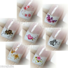 6 Nail Art Water Temporary Tattoos Stickers Lot