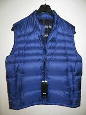 NEW $395 HUGO BOSS Real Down Puffy Vest Men Blu  Size 44 R US